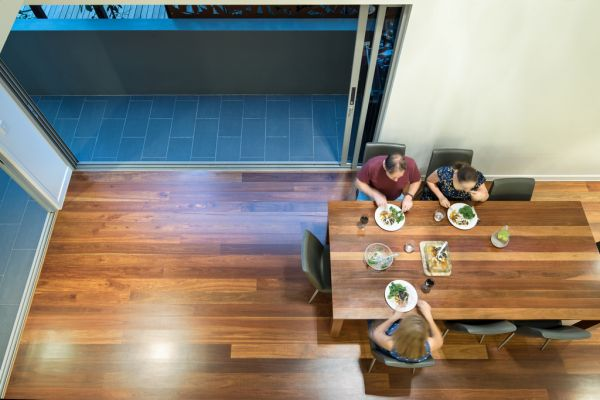 renovation design red hill dining area from void