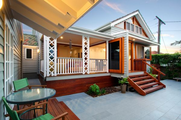 clayfield home renovation rear view