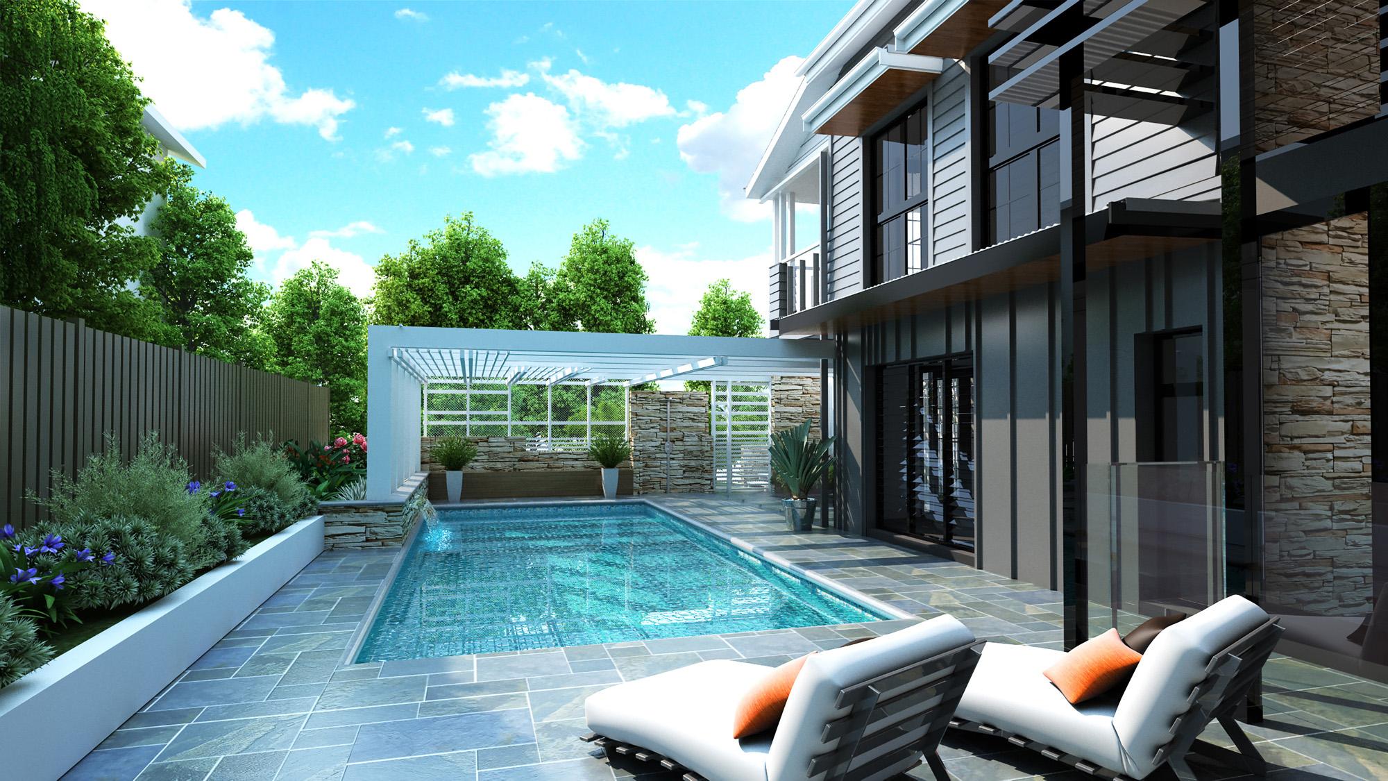 queenslander renovation bulimba pool