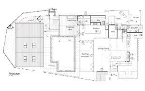 Image of poorly design floorplan first level