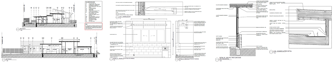 Image of Sherwood new home construction drawings