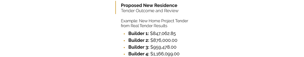 Image of Sherwood new home tender results