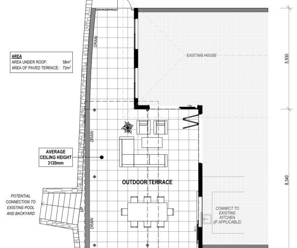 Willow Outdoor Area plans