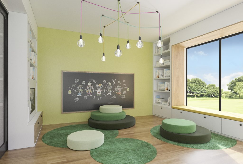 image of worongary luxury family home children play room