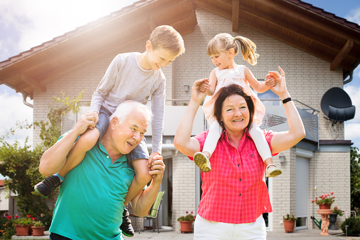 family home architects image of grandparents with grandchildren