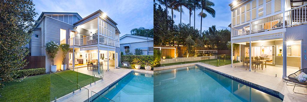 image of hawthorne queenslander renovation outdoor area and pool